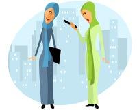 Zwei moslemische Geschäftsfrauen Lizenzfreie Stockfotografie