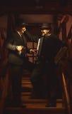 Zwei Musiker auf Treppenhaus Lizenzfreies Stockbild