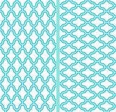 Zwei nahtlose Muster des vektorabstrakten Gitters Stockfoto
