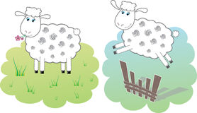 Zwei nette sheeps. lizenzfreie abbildung