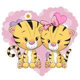 Zwei nette Tiger Stockfoto