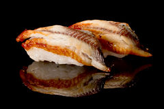Zwei nigiri Sushi Stockfotografie
