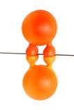 Zwei orange Eier Stockfotografie