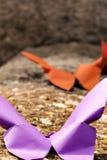 Zwei origami Vögel Lizenzfreies Stockfoto