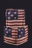 Zwei Osmane mit amerikanischer Flagge Stockbild
