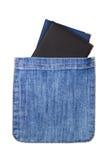 Zwei Pässe in einer Tasche. Lizenzfreies Stockfoto