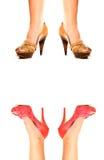 Zwei Paare Schuhe Stockfoto