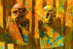Zwei Paintballsportschablonen Stockfoto