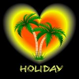 Zwei Palmen gegen einen hellen Hintergrund Stockbild