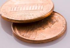 Zwei Pennys Stockbilder
