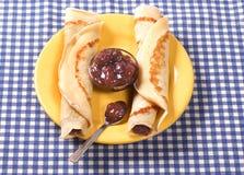 Zwei Pfannkuchen Stockbilder