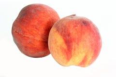 Zwei Pfirsiche Lizenzfreies Stockbild