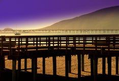 Zwei Piers Stockfoto