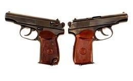 Zwei Pistolen des Russen 9mm Stockfotografie