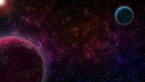 Zwei Planeten Stockbild