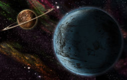 Zwei Planeten Lizenzfreie Stockfotografie