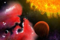 Zwei Planeten Lizenzfreies Stockfoto