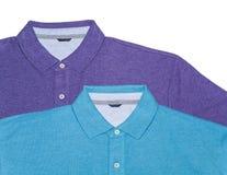 Zwei Polo-Hemden (horizontal) Stockbild