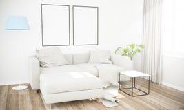 zwei Rahmen auf Wohnzimmer stockfotografie