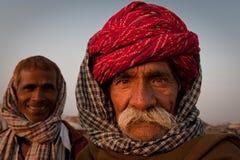 Zwei rajasthani Männer Lizenzfreie Stockfotos