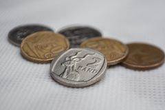Zwei Rand Coin stockfotos
