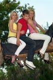 Zwei recht blond und junger Mann Stockfotos