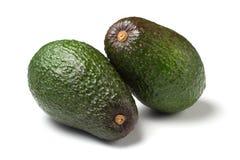 Zwei reife Avocados getrennt Lizenzfreies Stockfoto