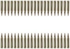 Zwei Reihen der Gewehrkugeln Stockbilder