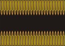 Zwei Reihen der goldenen Gewehrkugeln Lizenzfreies Stockfoto
