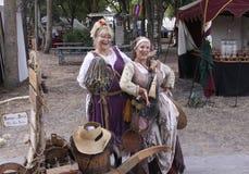 Zwei reizende Damen Lizenzfreies Stockfoto