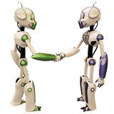 Zwei Roboter Stockfotos