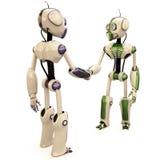 Zwei Roboter Lizenzfreie Stockfotos