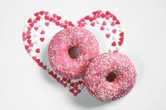 Zwei rosa Schaumgummiringe Lizenzfreies Stockbild