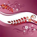 Zwei rosafarben und rote Blumenränder vektor abbildung