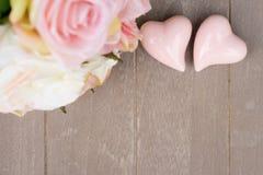Zwei rosafarbene Innere Lizenzfreie Stockfotografie