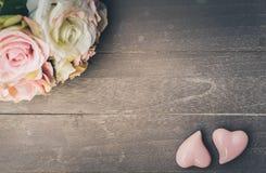 Zwei rosafarbene Innere Stockbild