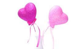 Zwei rosafarbene Innere Stockfotos