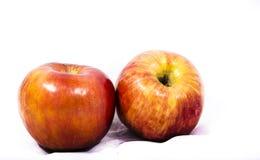 Zwei rote Äpfel Lizenzfreie Stockfotos