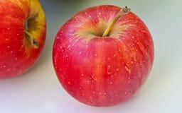 Zwei rote Äpfel Stockbilder