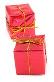 Zwei rote Geschenke Stockfoto