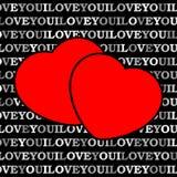 Zwei rote Herzen vor einem schwarzen Hintergrund Lizenzfreies Stockbild