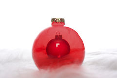 Zwei roter Weihnachtsflitter Stockbild