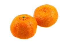 Zwei süße reife Spanien-Mandarinen Lizenzfreies Stockfoto