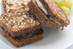 Zwei süße Sandwiche Lizenzfreies Stockfoto