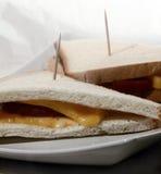 Zwei Sandwiche auf einer Platte Stockbild