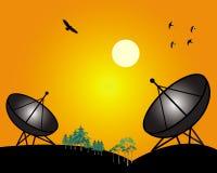 Zwei Satelliten Lizenzfreie Abbildung