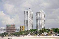 Zwei schöne Gebäude. Stockbilder