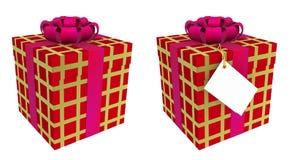 Zwei schöne Geschenkkästen Stockfoto