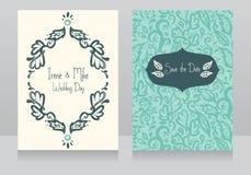 Zwei schöne Hochzeitseinladungen stock abbildung