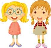 Zwei schöne Mädchen Lizenzfreies Stockfoto